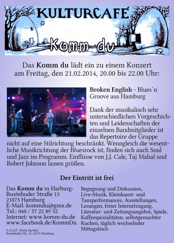 Broken English | Groove'n'Roll aus Hamburg